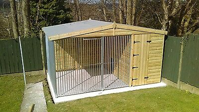 12 x 8 ft dog kennel and run