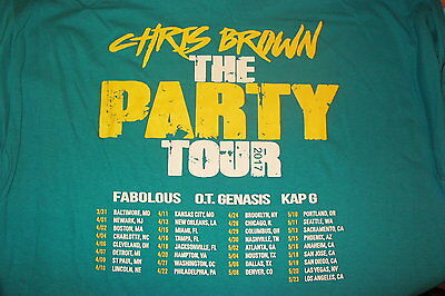 chris brown crew shirt 2017 the party tour