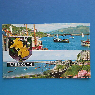 Old Postcard of Views of Barmouth.