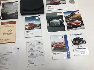 BMW X1 2014 Owners Manual Book Set / In Luxe Case / Free Shipping