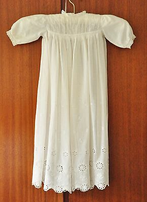 Child's vintage gown in fine white cotton lawn - also white cotton underskirt