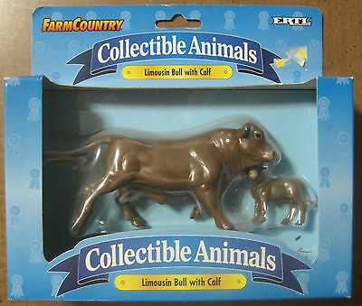 Farm Country Ertl Collectible Limousin Bull with Calf