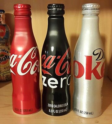 Nice coca cola different alu bottles see picture full