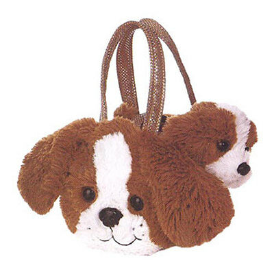Aurora World Plush - Fancy Pals Pet Carrier - SHIH TSU (Brown - 7 inch) - New