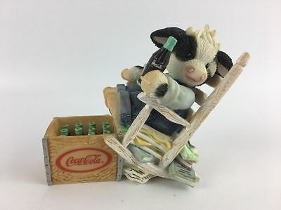 Mary's Moo Moos SIT LONG, LAUGH OFTEN Figurine COCA-COLA Coke Collection