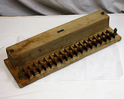 Vintage 1921? Cenco Meter Testing Rheostat, 18 Knife Switches, Wood Brass Copper