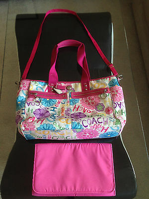 Coach Daisy Flower Pink Large Diaper Bag Tote Purse