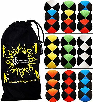 3x Pro Thud Juggling Balls Deluxe-SUEDE Professional Juggling Balls Set of 3 +