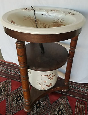 BWM & Co Brown Westhead Moore Antique Sink, Wash Stand & Drain Pot c.1890-1900
