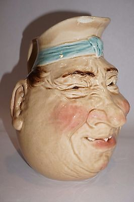 "French Majolica Pitcher Toby Jug Sarreguemines ""grotesque ""   3181 - 1"