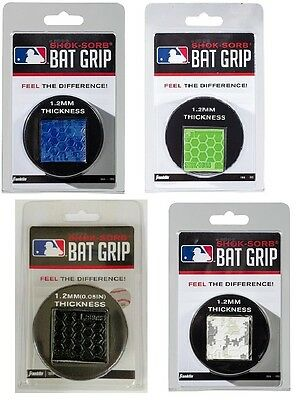 Franklin MLB Shok-Sorb Baseball Softball Bat Grip 1.2mm Thick - Assorted Colors