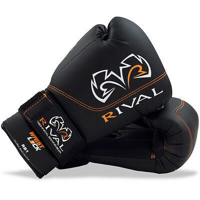 Rival Boxing RB1 Hook and Loop Ultra Bag Gloves - Black
