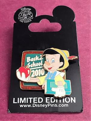 Disney Back to School 2010 Pinocchio with Apple LE 2000 Pin