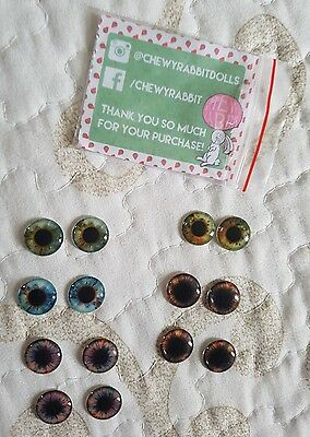 11 PAIRS of 13mm Pullip Eye Chips: BEBE BLYTHE & CHEWY RABBIT  /  BRAND NEW!!!