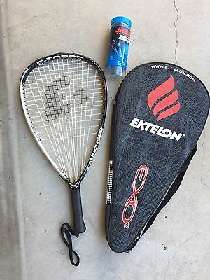 "E Force Launch Pad 22"" Long String Racquetball Racquet Nice*** with Ektelon case"