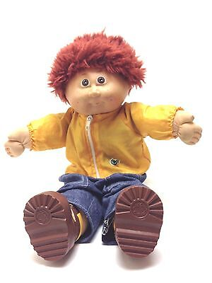 Vintage Cabbage Patch Kids Auburn Red Hair Boy Baby Doll Brown Eyes 1982 Jesmar