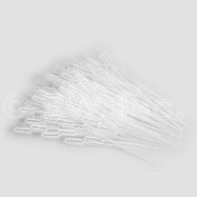 1ml Disposable Polyethylene Eye Dropper Set Transfer Graduated Pipettes 50 Pack