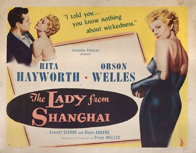 The Lady from Shanghai 1947 U.S. Half Sheet Poster
