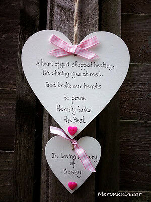 Large PET MEMORIAL-Dog-Cat Indoor Wooden Personalised Plaque- Pink gingham