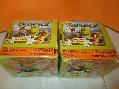 2004 Panini Shrek 2 Lot of 2 SEALED 50-Pack Sticker Boxes
