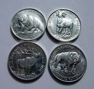 Canada's Northern Wildlife Medals - Set of Four