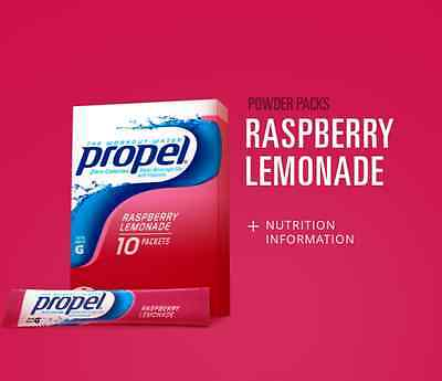 6 Boxes Propel Raspberry Lemonade Water Drink Mix (60 Packets Total)