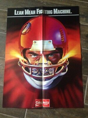 1996 Coca Cola Football Lean Mean Fighting Machine Poster