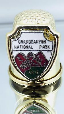 Vintage Grand Canyon National Park Arizona Gold Tone Collectible Sewing Thimble
