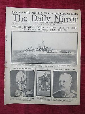 1914 WW1 The Daily Mirror Oct.24 Britains Floating Forts ORIGINAL