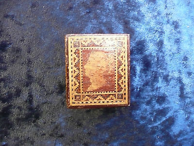 Antique Victorian Tunbridge Rosewood Stamp Box