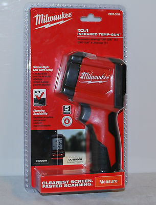 New Milwaukee 10:1 Infrared Thermometer LCD Display Temperature Gun 2267-20H