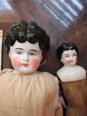 Antique CHINA HEAD DOLLS GERMANY LOT ++ extra set of hands for repair TLC