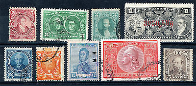 Argentina - Collection X 9 Stamps Used.
