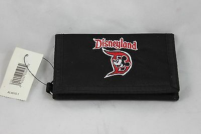Disney Disneyland Tri Fold Mickey Mouse Wallet w/Key Ring - New With Tags