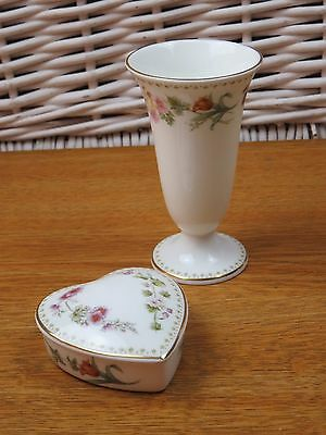 Wedgwood Mirabelle Heart Shaped Trinket Dish And Small Vase