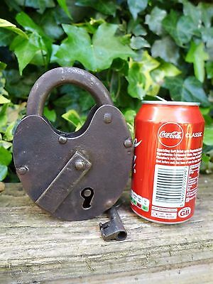 Antique Large Padlock With One Key, Working Order, Collector,
