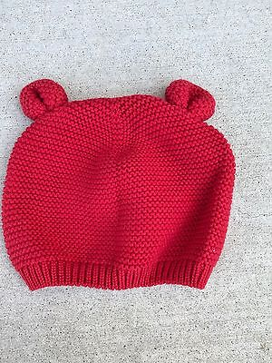 Baby Gap  Girl Red Knit Hat 6-12 Months