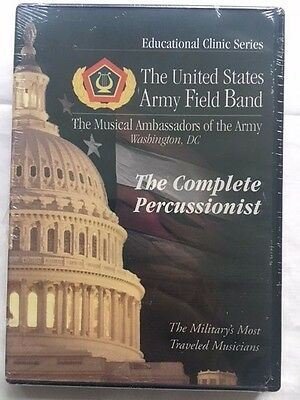PERCUSSION DRUMS Education DVD - US Army Band - Music, Guide, Lessons NEW SEALED