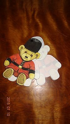Harrods Knightsbride London Guardsman Teddy Bear Note Pad Die-Cut