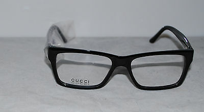 New Gucci GG 1022 807 ~ Black Acetate Eyeglasses - Size 53 16 140