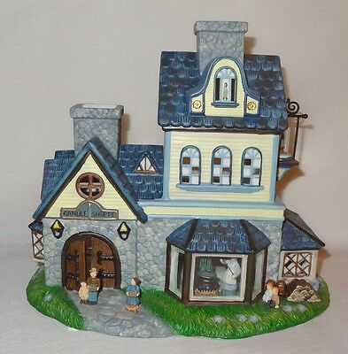 Retired PartyLite Christmas Old World Village #1 Candle Shop P7315 Candle Holder