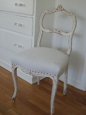 Antique French Chair Carved Scroll
