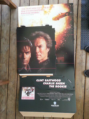 The Rookie WB Promo Cutout Cardboard Standee in Original Box Eastwood Sheen