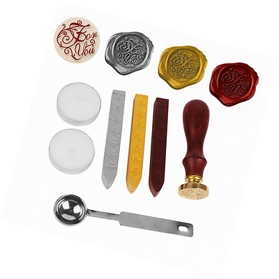 NetBoat Antique Wax Seal Sealing Stamp Kit Set with Gold Red Silver Wax Sticks (