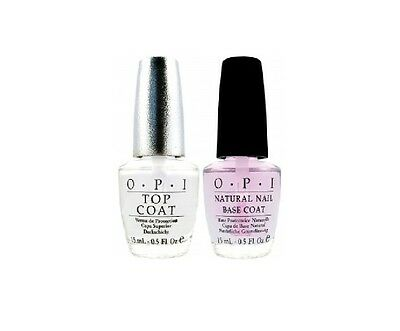 OPI Natural Nail Polish Base And Clear Top Coat Set  Full Size Duo Set 2 x 15 mL