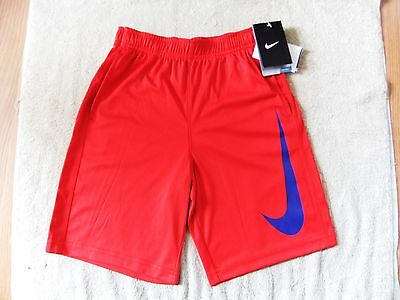 NWT Nike Boys Pockets Red/Blue Dri-Fit Shorts Pants size 4T