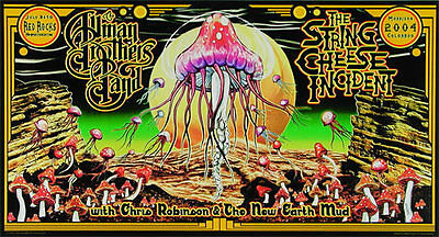 Allman Brothers / String Cheese Incident _RARE 2004 Gig Poster by Jesse Phillips