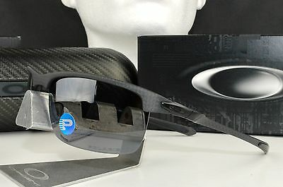 New Oakley Carbon Blade Sunglasses OO9174-03 Black Iridium Polarized Lens