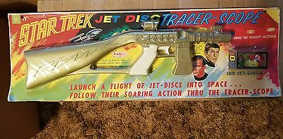 Vintage Star Trek 1968 RayLine Product Jet Disc Tracer Scope Phaser Rifle SEALED