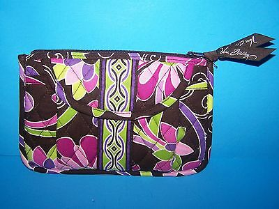 Nwot Vera Bradley Fanny Pack Wallet Purse Purple Punch Brown Pink Green Floral